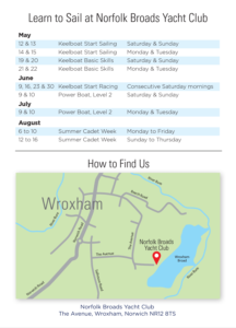 Norfolk Broads Yacht Club - Open day and learn to sail